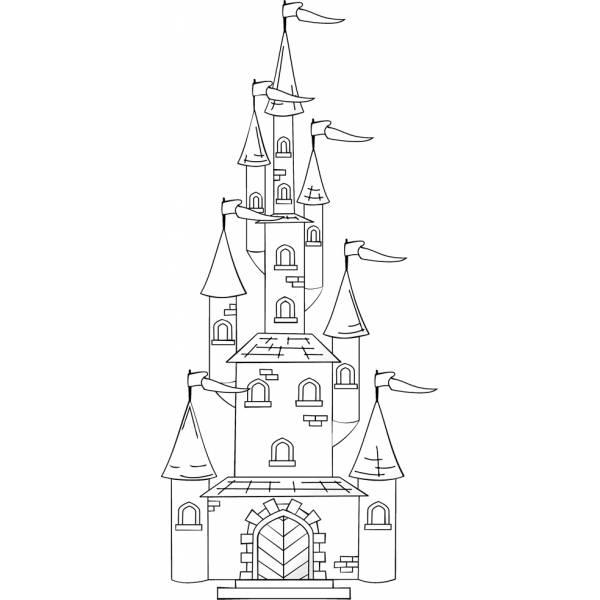 Immagini Castelli Da Colorare.Disegno Di Il Castello Con Le Torri Da Colorare Per Bambini Disegnidacolorareonline Com