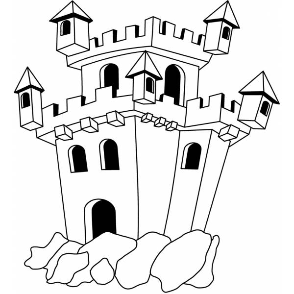 Immagini Castelli Da Colorare.Disegno Di Il Castello Da Colorare Per Bambini Disegnidacolorareonline Com