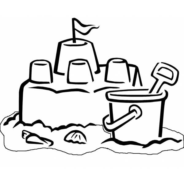Disegno di Il Castello di Sabbia da colorare