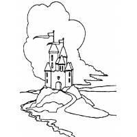 Disegno di Castello Incantato da colorare