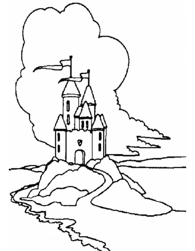 Disegno Di Castello Incantato Da Colorare Per Bambini