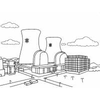 Disegno di Centrale Nucleare da colorare