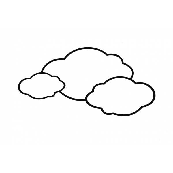 Disegno di le nuvole da colorare per bambini for Immagini sole da colorare