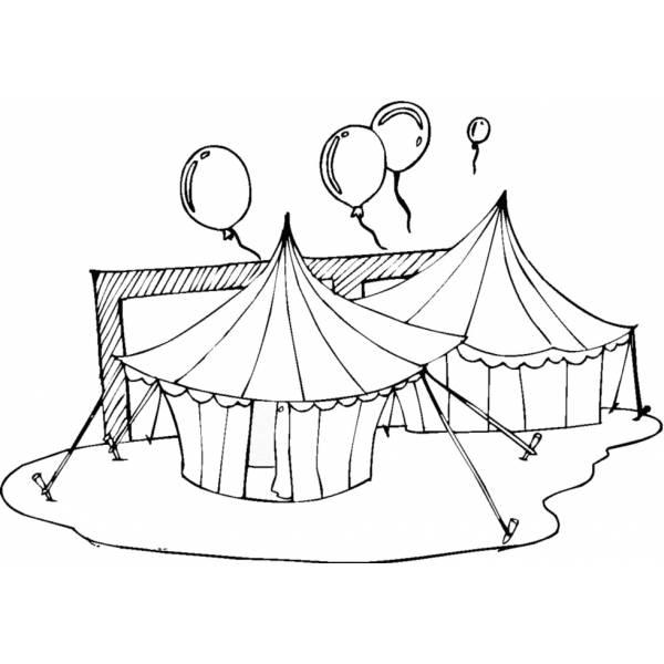Disegno di il circo da colorare per bambini for Disegno pagliaccio da colorare