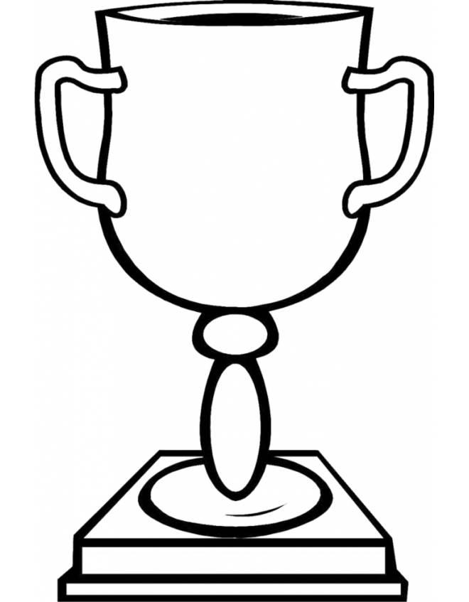 disegno di Coppa da colorare