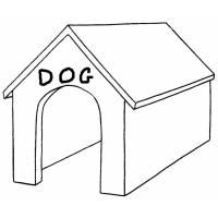 Disegno di Cuccia del Cane da colorare