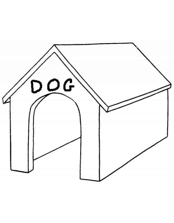 Disegno di cuccia del cane da colorare per bambini for Disegno del piano online