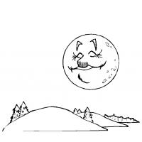 Disegno di La Luna e Le Colline da colorare
