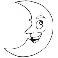 Disegno di Luna da colorare