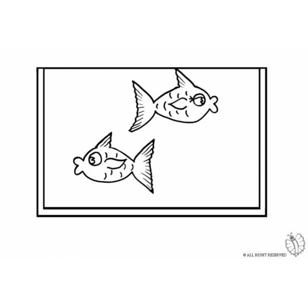 Disegno di acquario da colorare per bambini for Pesci immagini da colorare