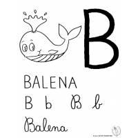Disegno di Lettera B di Balena da colorare