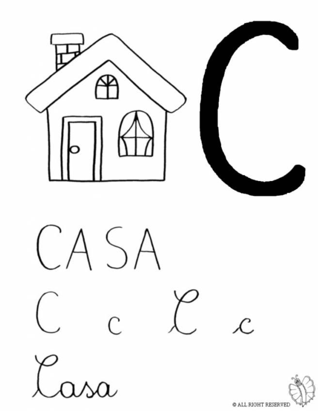 Stampa disegno di lettera c di casa da colorare for Disegni di casa compatti