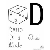 disegno di Lettera D di Dado da colorare