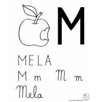 Disegno di Lettera M di Mela da colorare