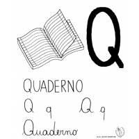 Disegno di Lettera Q di Quaderno da colorare