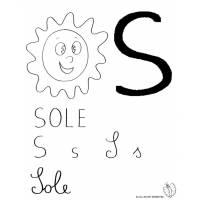disegno di Lettera S di Sole  da colorare