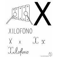 disegno di Lettera X di Xilofono da colorare