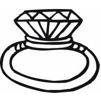 Disegno di Anello con Diamanti da colorare