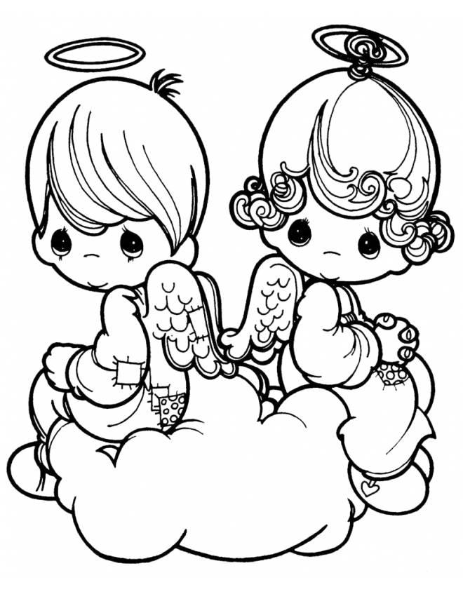 Disegni angeli da colorare e stampare for Disegni da colorare angeli