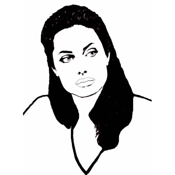 Disegno di Angelina Jolie da colorare