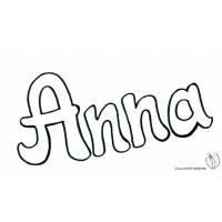 Disegno di Anna da colorare