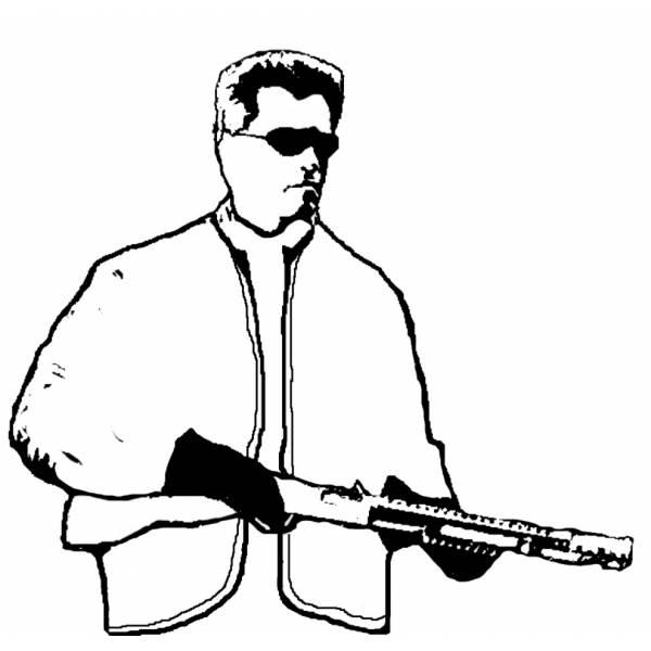 Disegno di Arnold Schwarzenegger da colorare