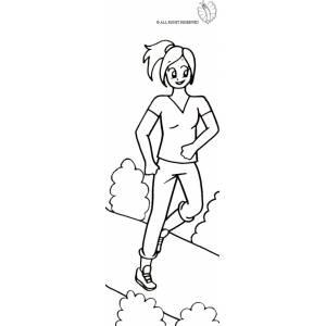 Disegno di corsa nel parco da colorare per bambini gratis for Bicicletta immagini da colorare