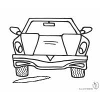 Disegno di L'Auto e la Buca da colorare