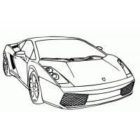 Disegno di Auto di Lusso da colorare