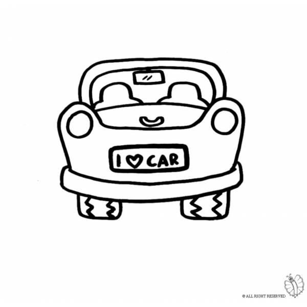 Disegno Di Auto Da Colorare Per Bambini Disegnidacolorareonlinecom