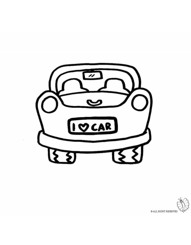 Disegno di auto da colorare per bambini for Disegni da colorare e stampare di cars