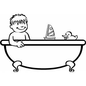 Disegno di bagnetto in vasca da colorare per bambini - Vasca da bagno bambini ...