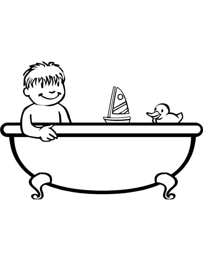 disegno da vasche bagno Piccole : Disegno di Bagnetto in Vasca da colorare per bambini ...