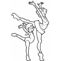 disegno di Ballerine Danza Classica da colorare