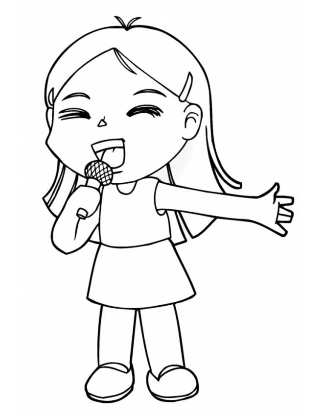 disegno di una bambina da colorare disneyreport
