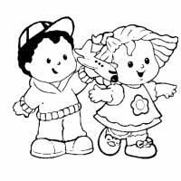 disegno di Bambini dell' Asilo da colorare