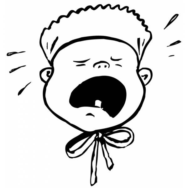 disegni da colorare bimbo che piange