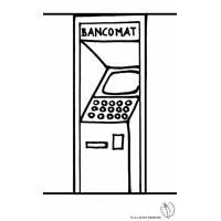 disegno di Bancomat da colorare