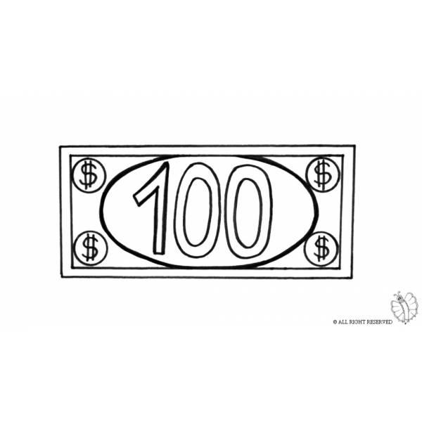 Disegno Di Banconota Dollari Da Colorare Per Bambini