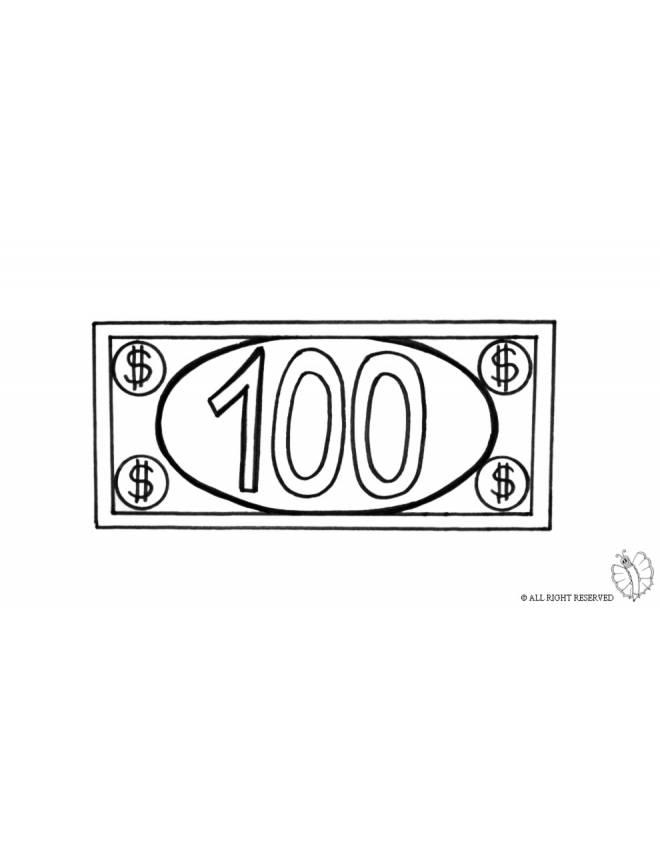disegno di Banconota Dollari da colorare