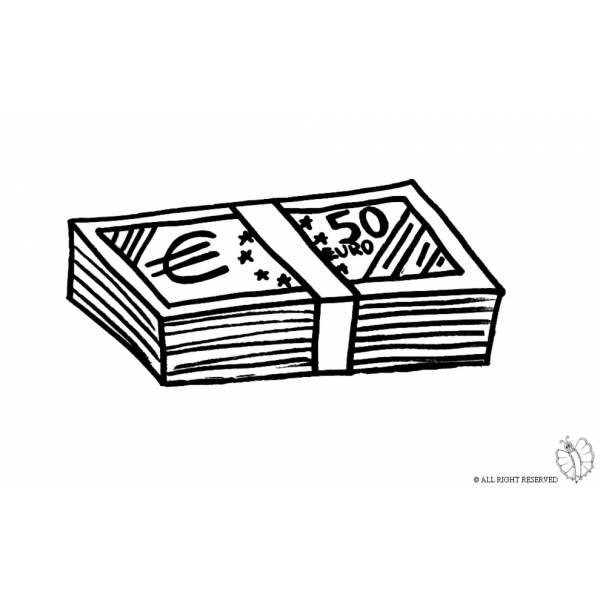 Disegno Di Banconote Da Colorare Per Bambini