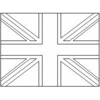 Disegno di Bandiera del Regno Unito da colorare