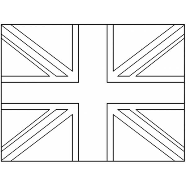 Bandiera Inglese Da Colorare.Disegno Di Bandiera Del Regno Unito Da Colorare Per Bambini