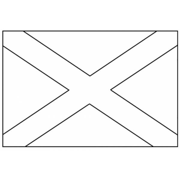 Disegno di Bandiera Scozzese da colorare