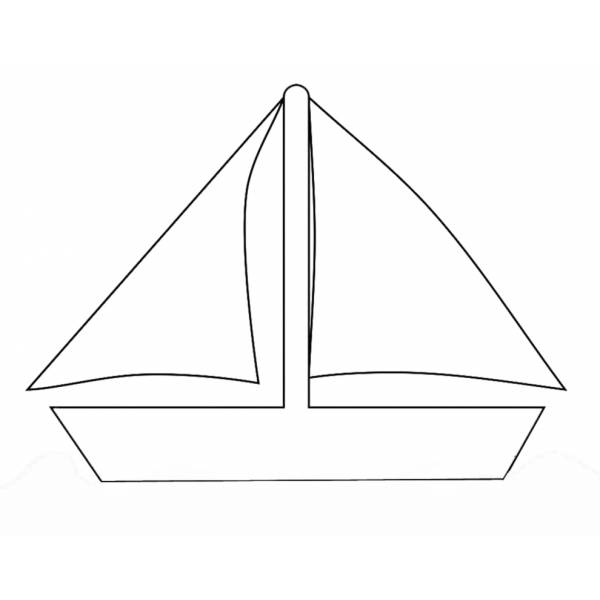 Disegno di Barca da Regata da colorare