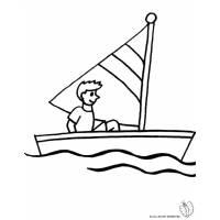 Disegno di Barca a Vela da colorare