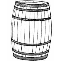 disegno di Barile di Legno da colorare