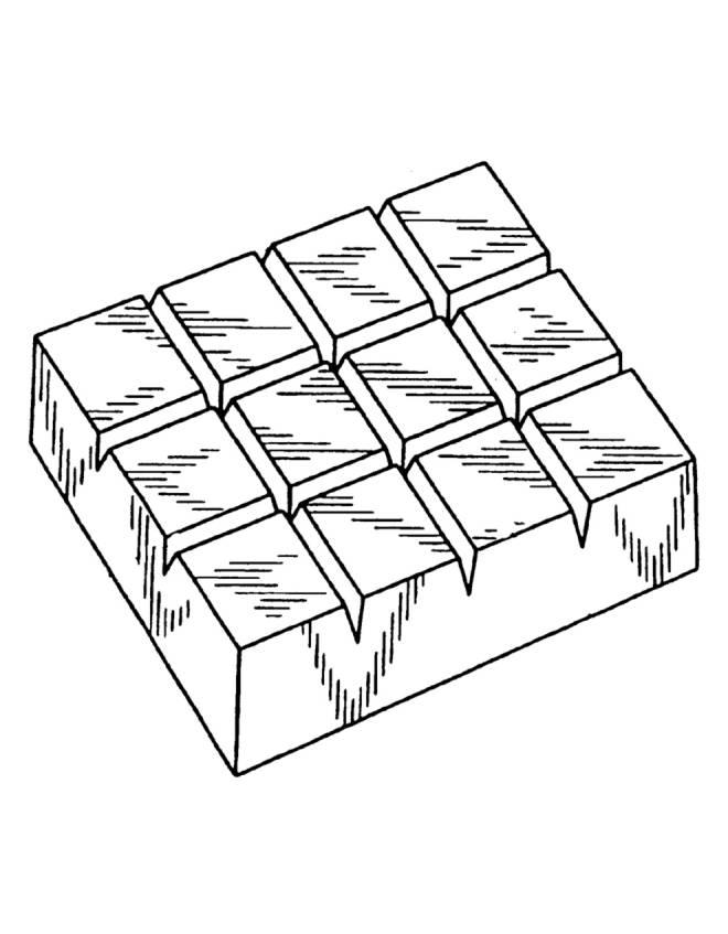 Tavoletta Di Cioccolato Disegno.Disegno Di Barretta Di Cioccolato Da Colorare Per Bambini