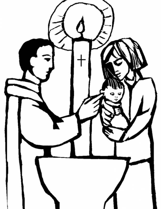 Stampa Disegno Di Battesimo Da Colorare