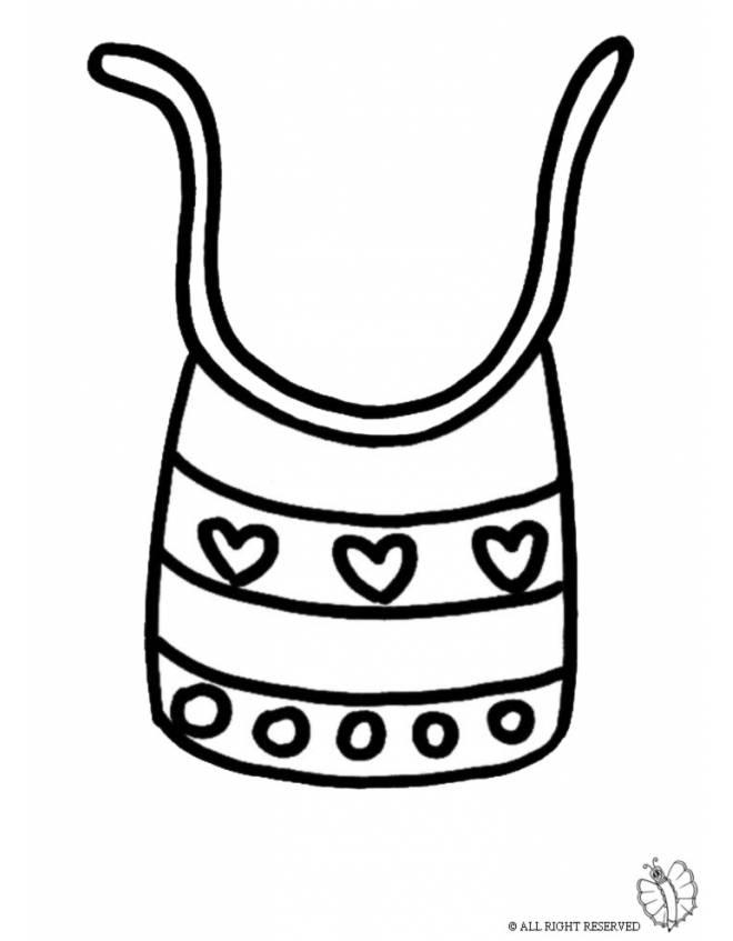 Disegno di bavaglino da colorare per bambini for Comodini per bambini online